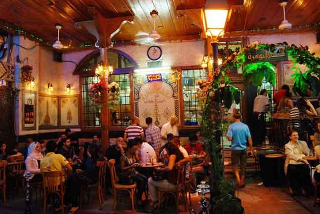 مقهى النوفرة     دمشق
